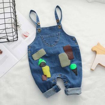 Baby/Toddler Print Denim Overalls Jumpsuit