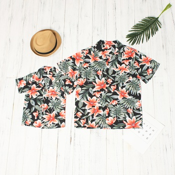 6dd097cd Floral Short-sleeve Daddy and Me Shirt in Black