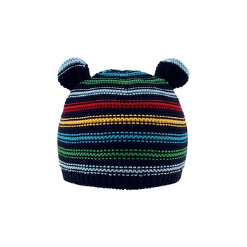 366ee4e8a9e Cute Striped Bear Design Knitted Hat for Baby and Toddler