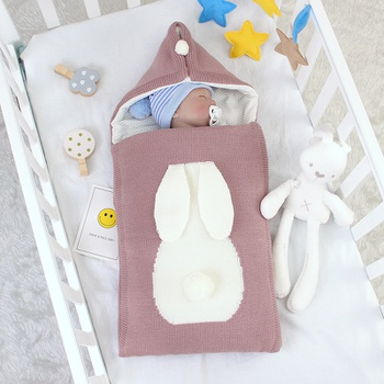 Baby Boy Girl Newborn Swaddle Rabbit Design Winter Sleeping Bag