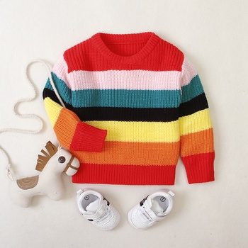 Multi-color Long-sleeve Sweater