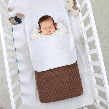 Fashion Warm Soft Baby Blanket Newborn Swaddle Wrap Infant Sleeping Bag Footmuff Envelope