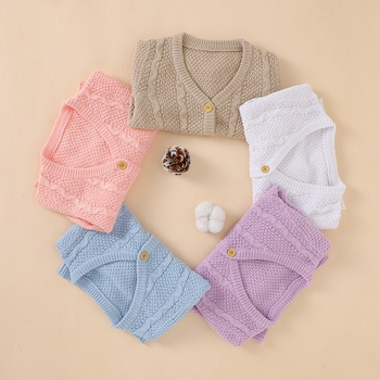 1pc Baby Girl Long-sleeve Cotton casual Sweaters