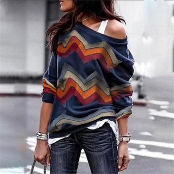 Stylish Wavy Long-sleeve Top