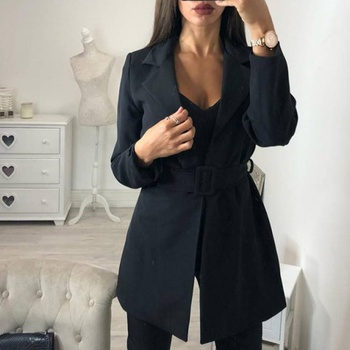 Trendy Solid Long-sleeve Trench