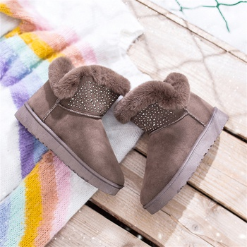 Trendy Plush Solid Snow Boots