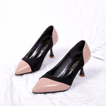 Fashionable Color Block High-heels