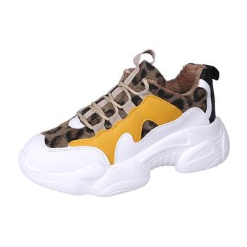 Stylish Leopard Splice Sneakers