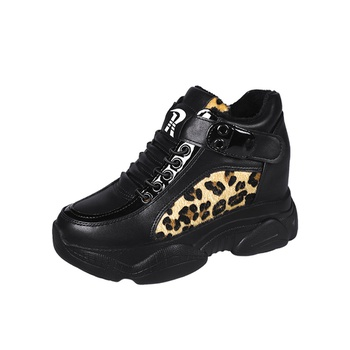 Casual Leopard Lace-up Sneakers
