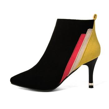 Trendy Splice Zip-up Ankle Boots