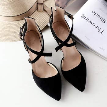 Simple Solid Strap Sandals