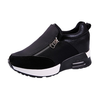 Casual Zip-up Wedge Sneakers