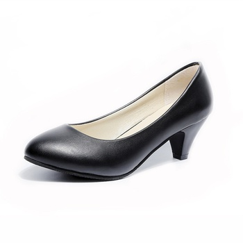 Casual Solid Mid-heel Single Shoes