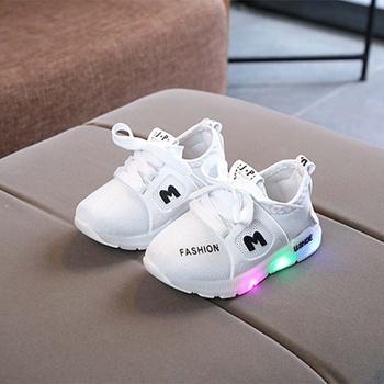 Stylish Breathable LED Antiskid Shoes for Toddler / Kid