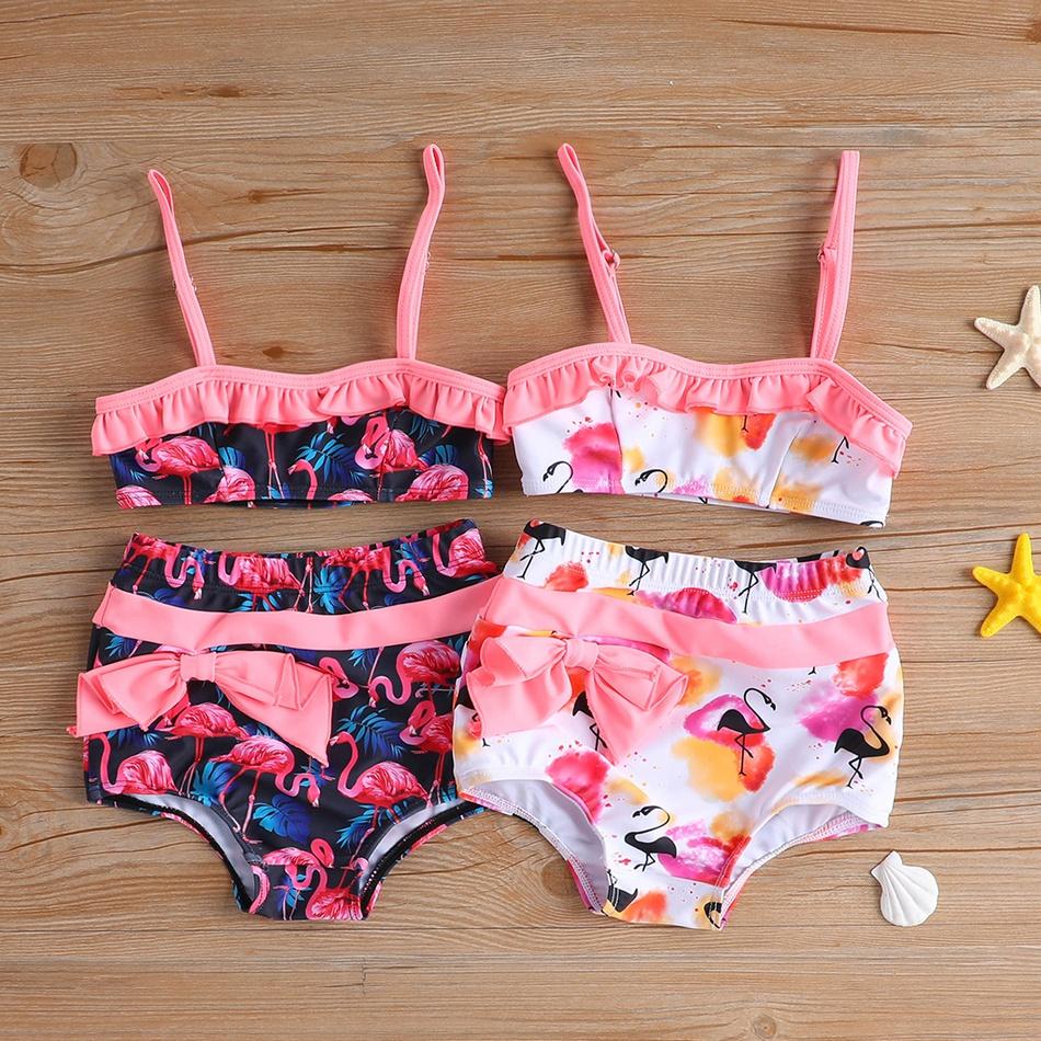 8a3eb31aa Baby hermana patrón de flamenco correa superior y pantalones cortos de  natación del bebé niña at PatPat.com