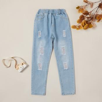 Casual Ripped Denim Jeans