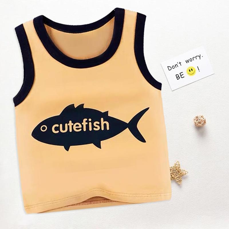 e170ee5828b83 Sale Baby / Toddler CUTEFISH and Cartoon Fish Print Tank Top at ...