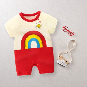 Baby Rainbow Print Bodysuits