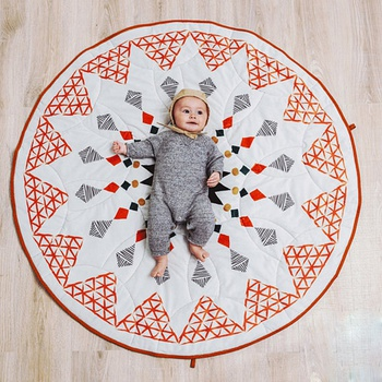 New Geometric Diamond Pattern Baby Crawling Mat Children's Room Decoration Play Mat Moroccan Style Baby Mat Universal Floor Pad