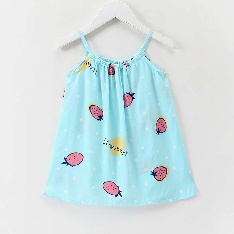 bdf575eb7 Baby Cute Strawberry Print Strap Dress for Baby and Toddler Girl at ...