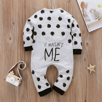 Baby Dotted Letter Print Jumpsuit