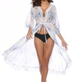 Trendy Allover Long-sleeve Coverup