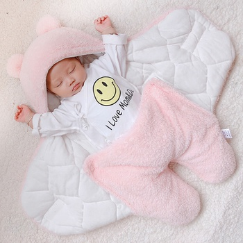 Warm Fleece-lining Swaddle Sleeping Bag