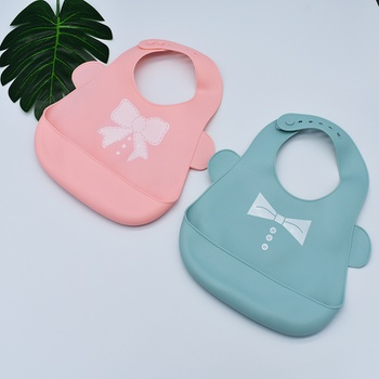 Cute Baby Waterproof Silicone Bibs Feeding Saliva Towel Toddler Adjustable Aprons