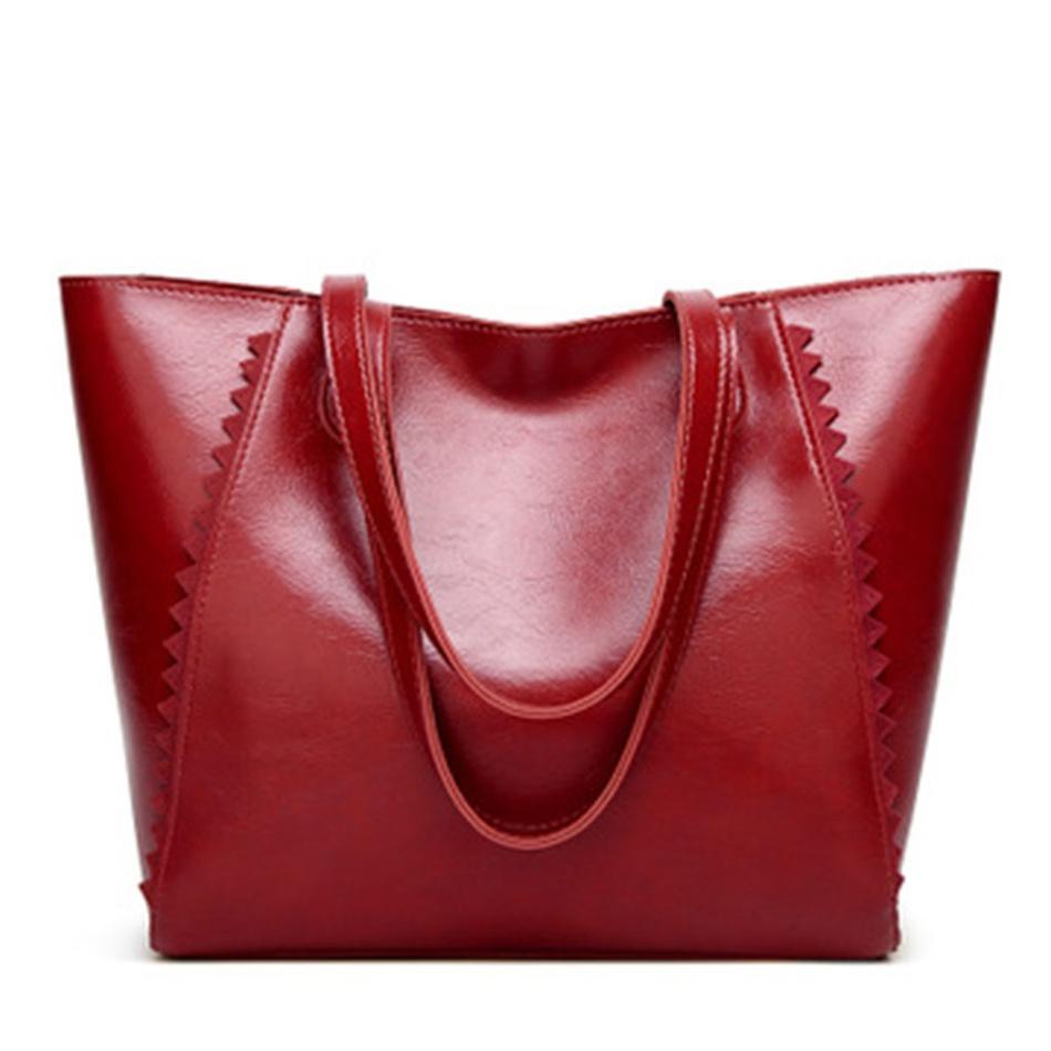 Home-Accessories Vintage Large Capacity Zip-up Shoulder Bag at ... 299034f6f0c7e