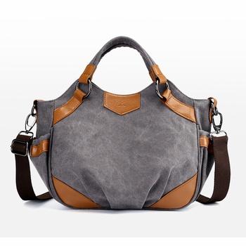 3610b76b23ff Retro Ruffled Splice Canvas Crossbody Shoulder Bag