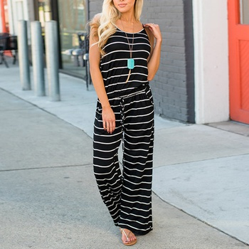 72be5de2b32a Casual Striped Strap Jumpsuit