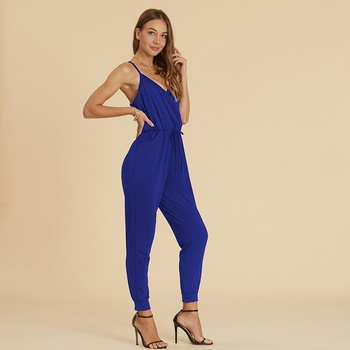 Sassy Tie-up Backless Jumpsuit