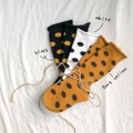 3-pair Colorful Stripe and Polka Dots Knitted Mid Tube Socks