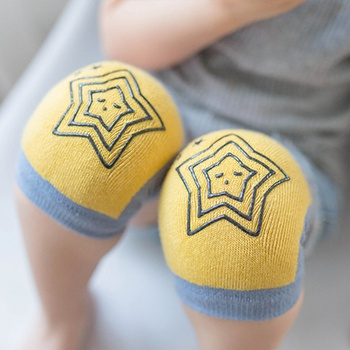 3-pairs Comfy Star Applique Splice Knee Pads for Baby