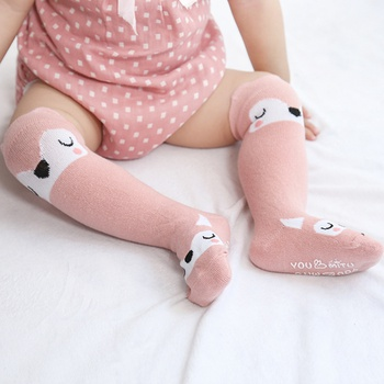 Cute Animal and Letter Print 3D Ear Decor Socks