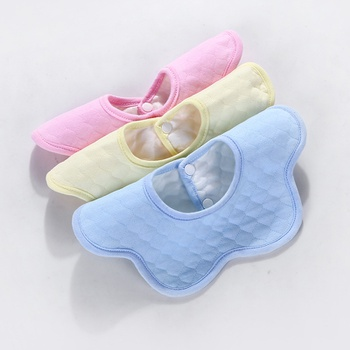3-pack Stylish Cotton Petal Design Bibs Set for Baby