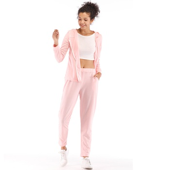 2-piece Pretty Zipper Hoodies and Sweatpants