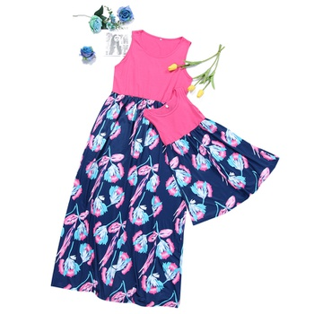 0d087d1a05280 Mom and Me Sweet Sleeveless Floral Matching Dress