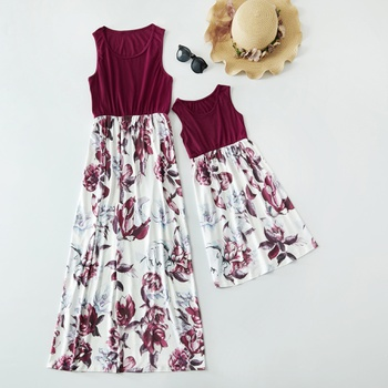 Floral Print Matching Tank Dresses