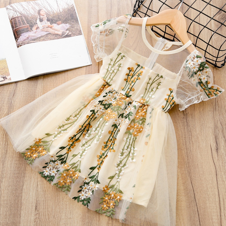 635c58078 Toddler Toddler Girl's Floral Embroidery Tulle Dress at PatPat.com