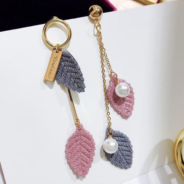 Fashionable  Asymmetric Leaf Design Earrings