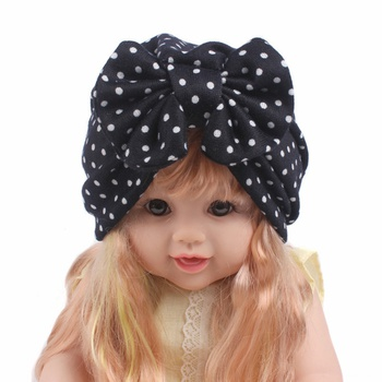 Stylish Dotted Bow Decor Hat