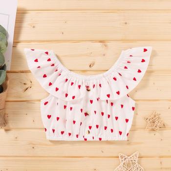 Baby/Toddler Girl Off Shoulder Heart Top of Valentine