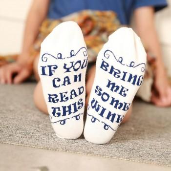 Fun Dialogue Print Socks for Women and Men