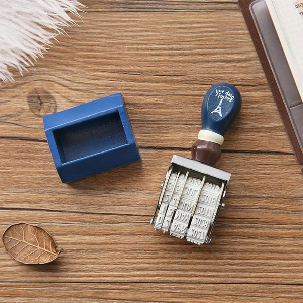 1-piece Retro Roller Knob Stamps