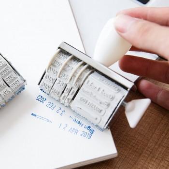 1-piece Date Stamp Roller Knob Stamp