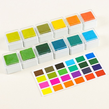 24-piece Creative Solid Square Stamps Set