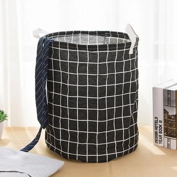 Trendy Plaid Laundry Basket