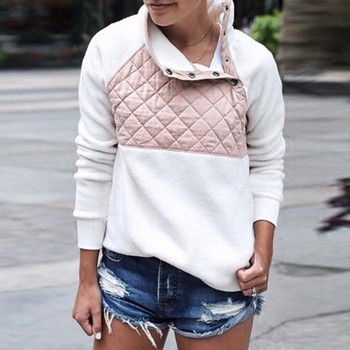 Chic Patchwork Long-sleeve Pullover