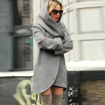 Elegant Loose Hooded Overcoat